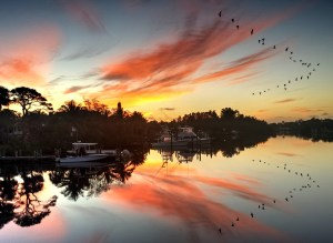 Sunrise over the St Lucie River by Mr John Whiticar.