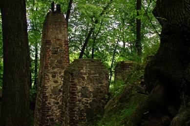 Pozostałości fundamentów po gospodzie w Starym Książu