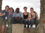 Sundowners from Baboon Cliff with Amy, driver Alphonse, Liz and Duda.