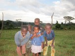 These kids couldn't curb their enthusiasm--they really wanted to shake hands with a mzungu!