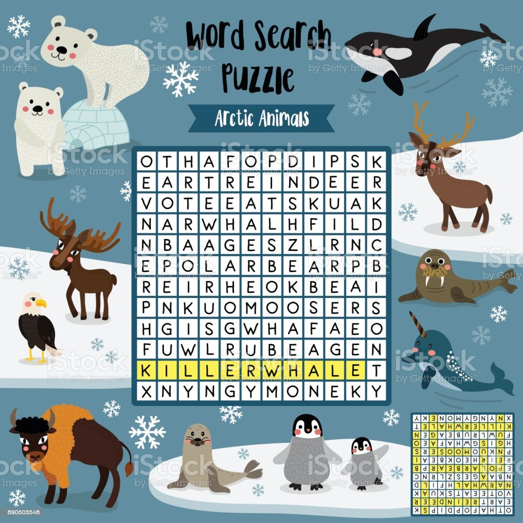Arctic Animals Worksheets For Preschool Template Library