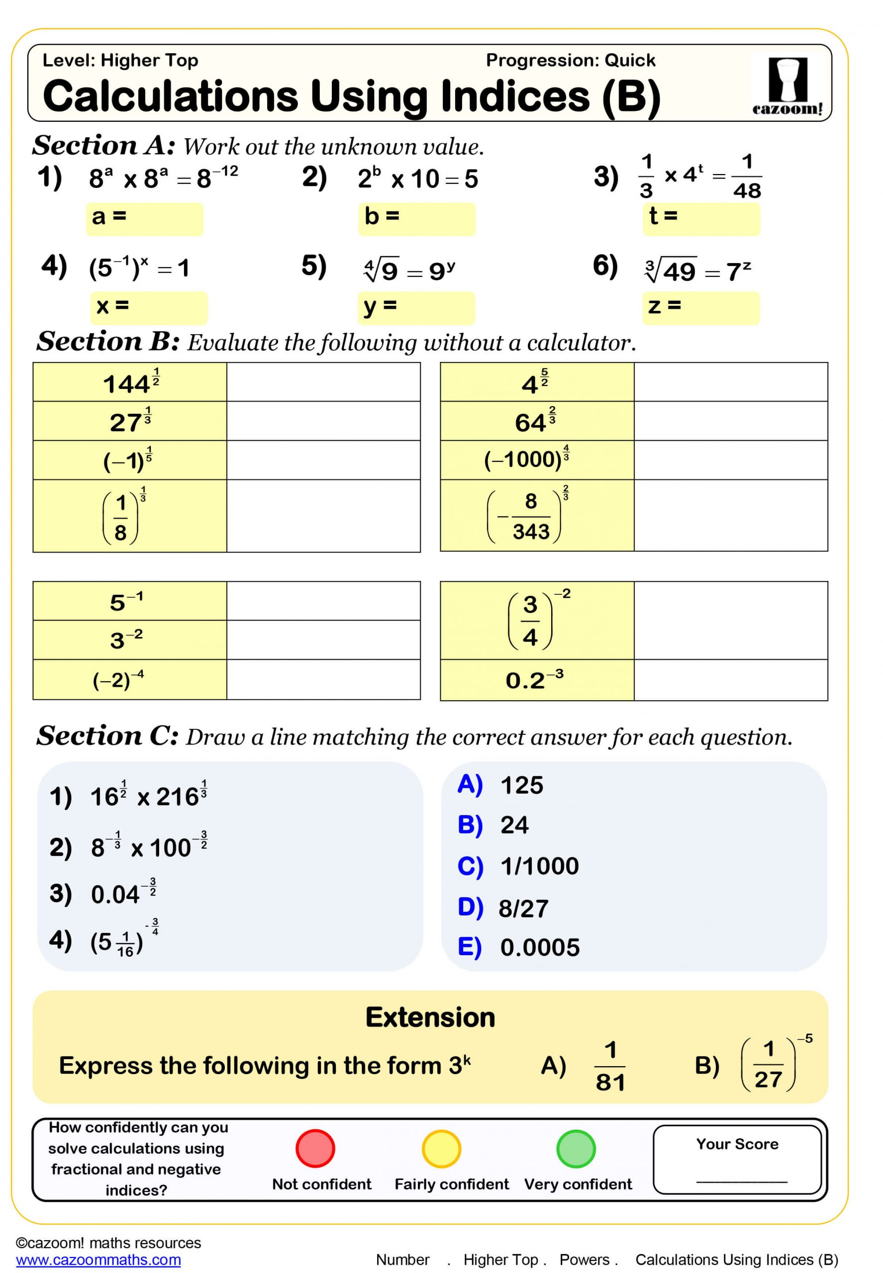 30 Function Table Worksheets