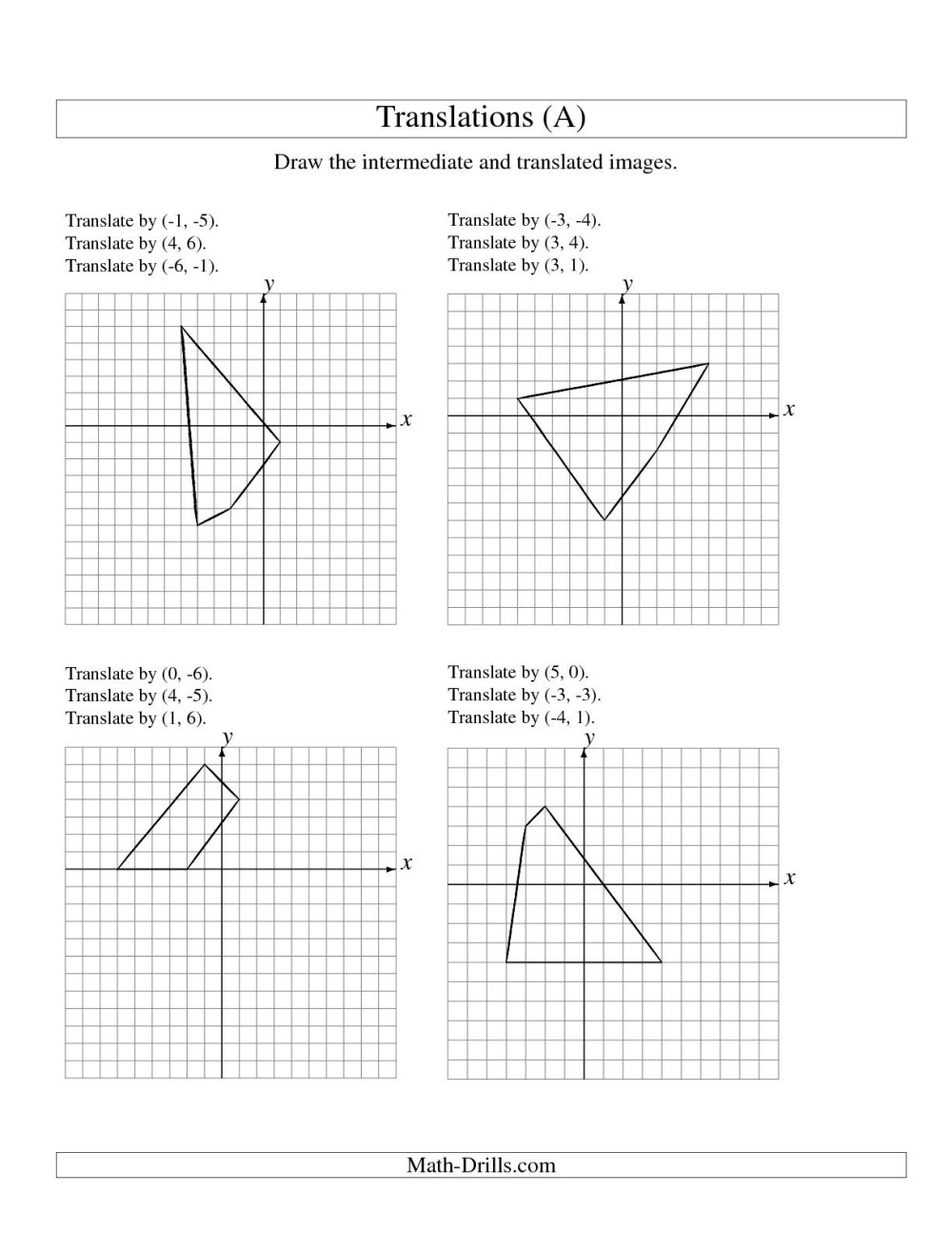 medium resolution of Transformations Math Worksheets   Printable Worksheets and Activities for  Teachers