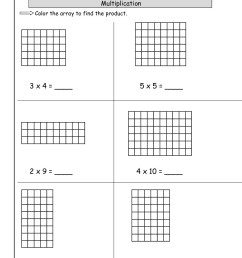 Multplication Arrays Worksheets   Printable Worksheets and Activities for  Teachers [ 1584 x 1224 Pixel ]