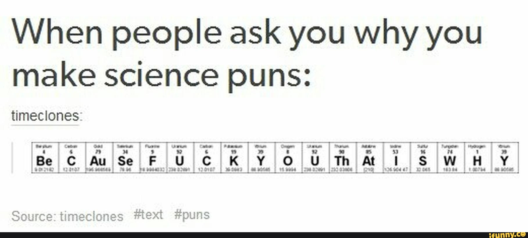 30 Periodic Table Puns Worksheet Answers
