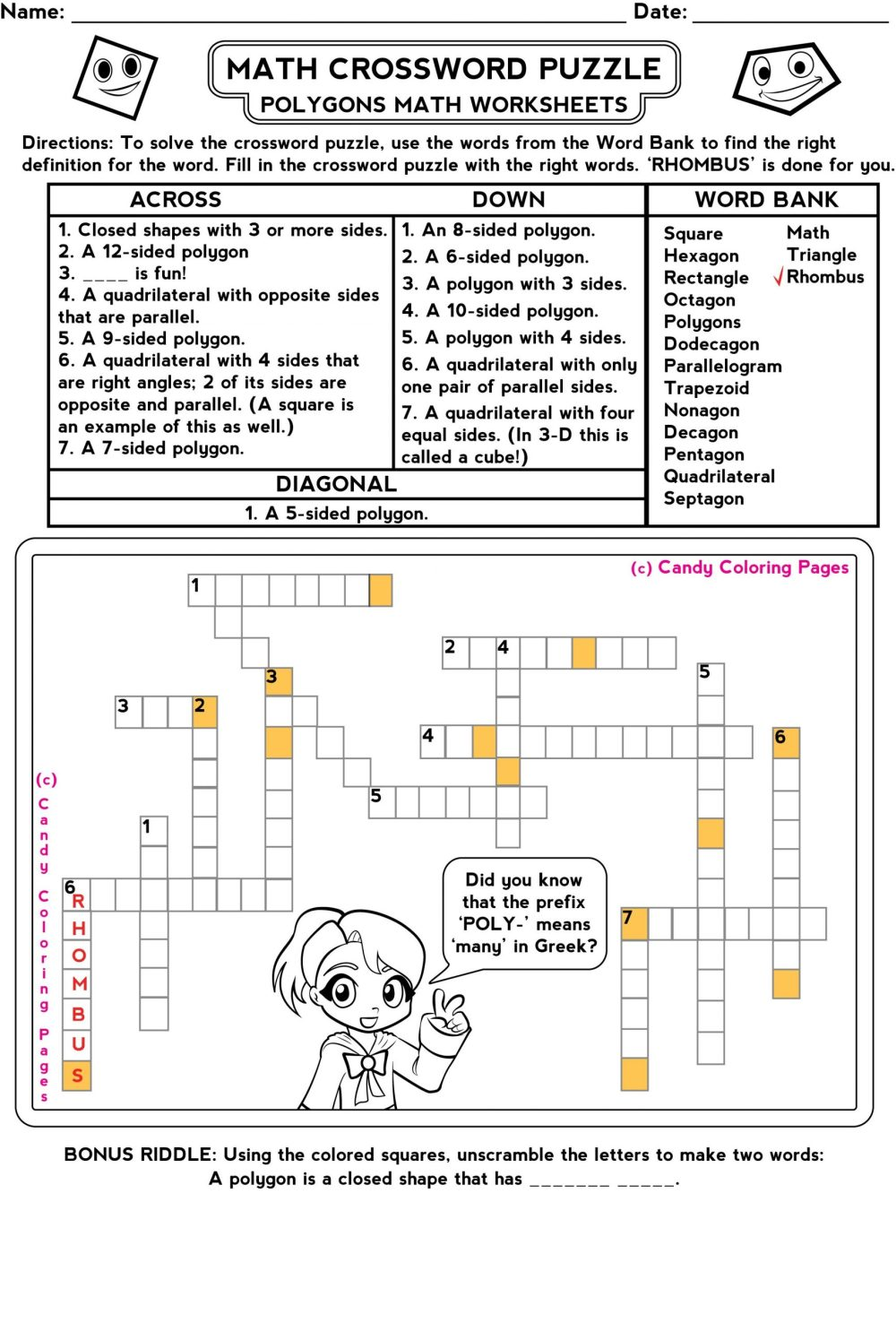 medium resolution of Time Math Riddle Worksheet   Printable Worksheets and Activities for  Teachers