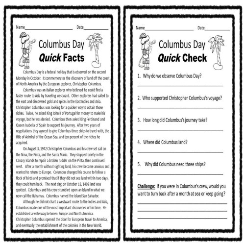 small resolution of Columbus Coloring Worksheet   Printable Worksheets and Activities for  Teachers