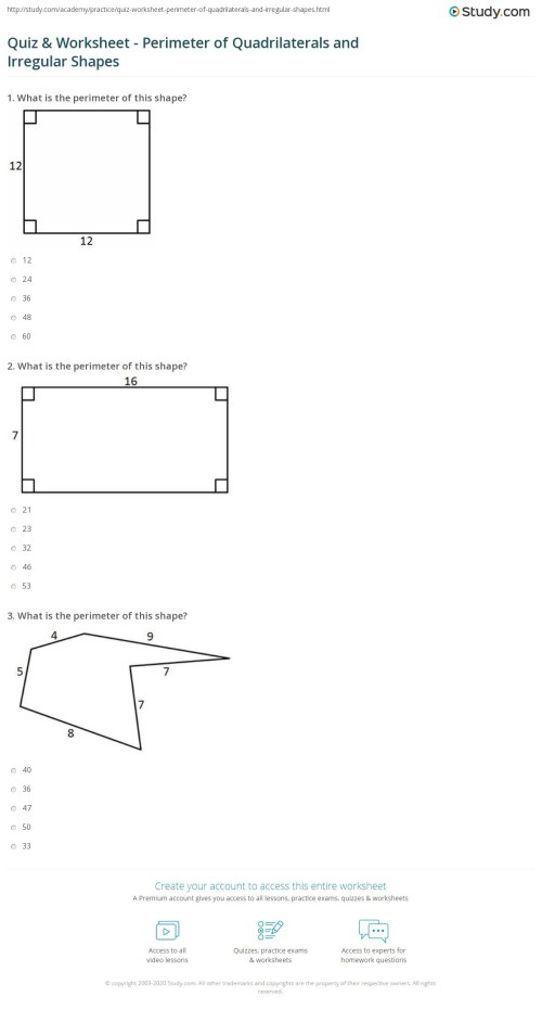 small resolution of Finding Area Perimeter And Volume Worksheet   Printable Worksheets and  Activities for Teachers