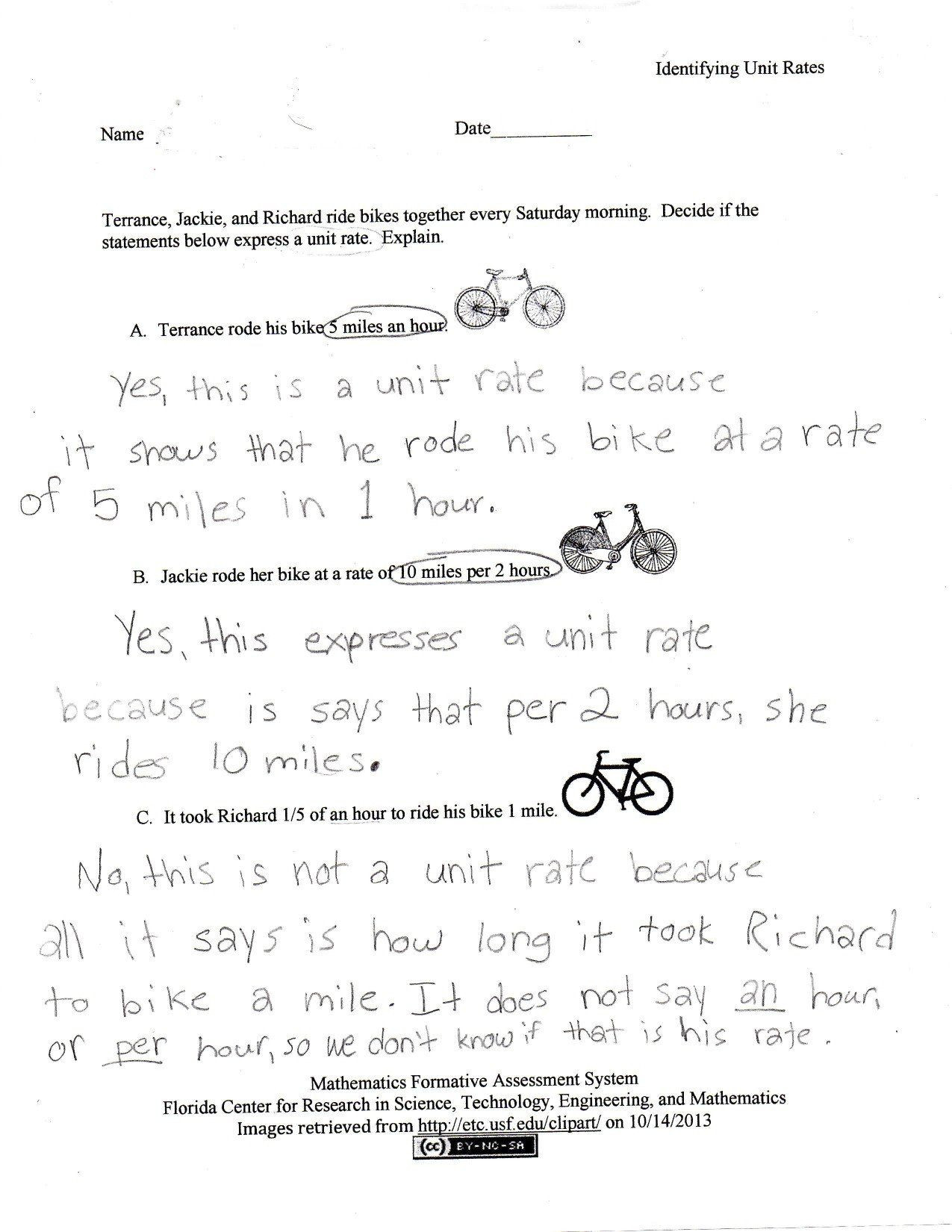 Compare Unit Fractions Worksheet Template Library