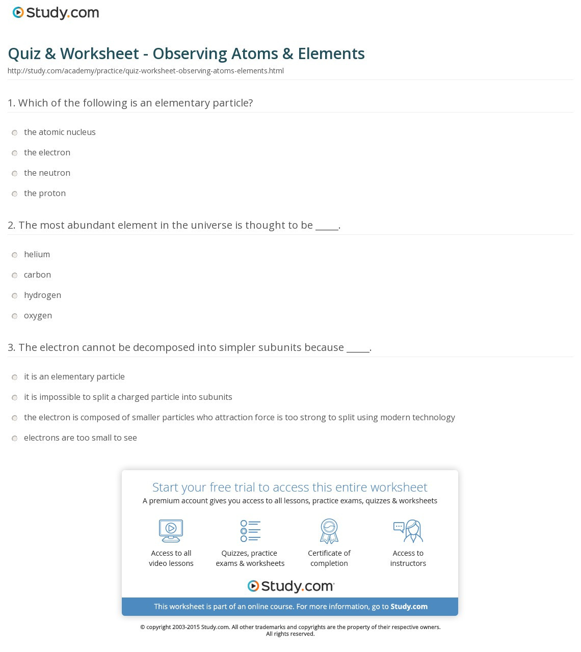 30 Counting Subatomic Particles Worksheet