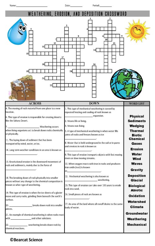 small resolution of Worksheets 4th Grade Science Rocks   Printable Worksheets and Activities  for Teachers