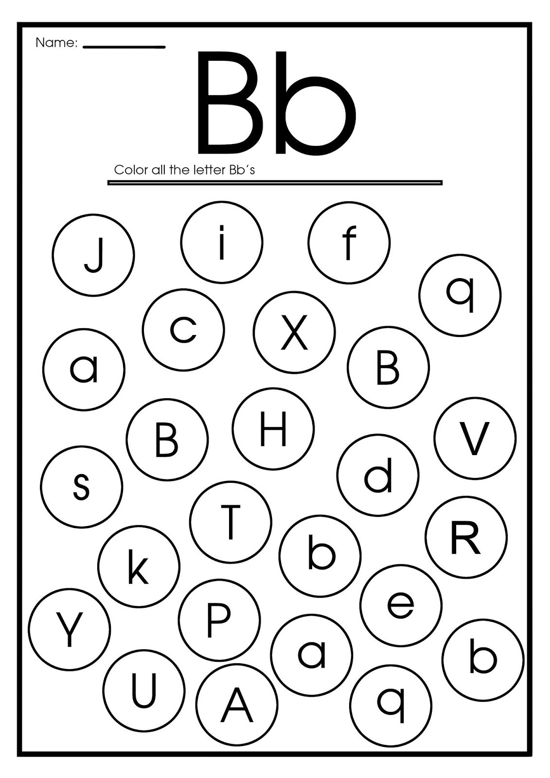 Letter B Worksheets Preschool Template Library