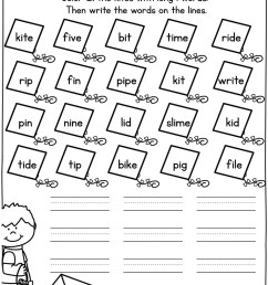 Long Vowel Sounds Silent E Worksheets   Printable Worksheets and Activities  for Teachers [ 1800 x 1350 Pixel ]