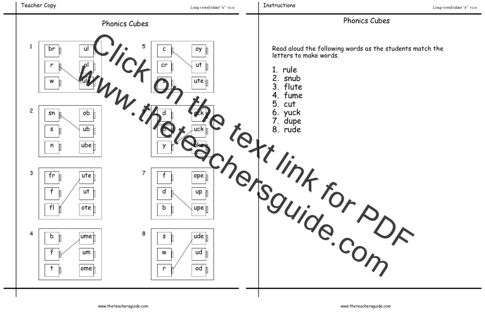 medium resolution of Long Vowel Silent E Worksheets   Printable Worksheets and Activities for  Teachers