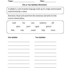 Open Syllable Worksheets   Printable Worksheets and Activities for  Teachers [ 1662 x 1275 Pixel ]