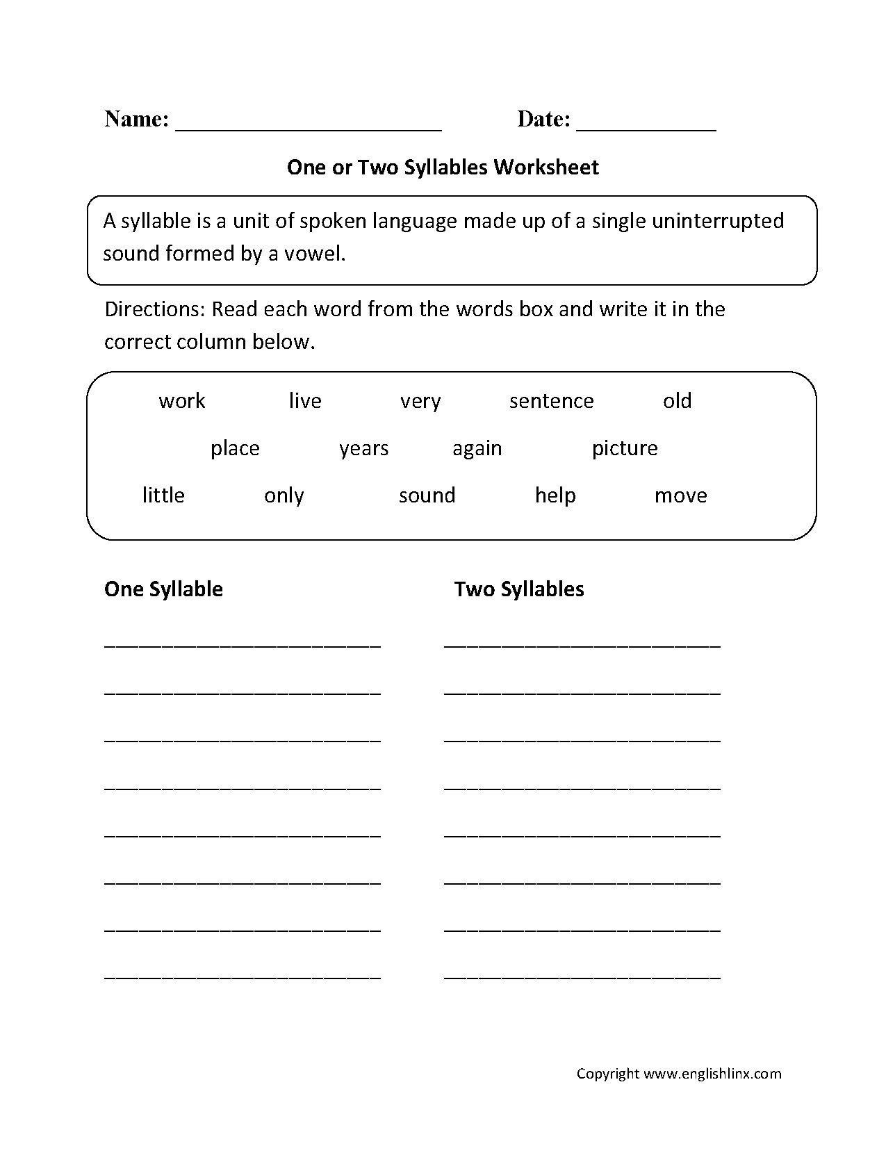 hight resolution of Open Syllable Worksheets   Printable Worksheets and Activities for  Teachers