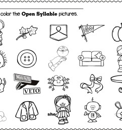 Open Syllable Worksheets   Printable Worksheets and Activities for  Teachers [ 1978 x 2560 Pixel ]