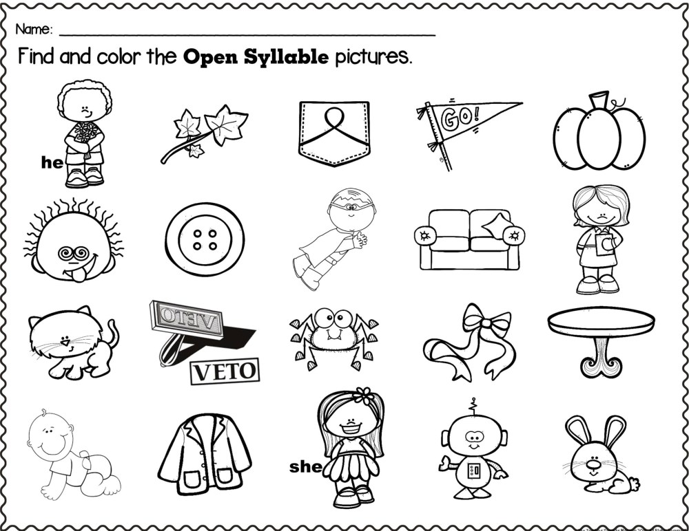 medium resolution of Open Syllable Worksheets   Printable Worksheets and Activities for  Teachers