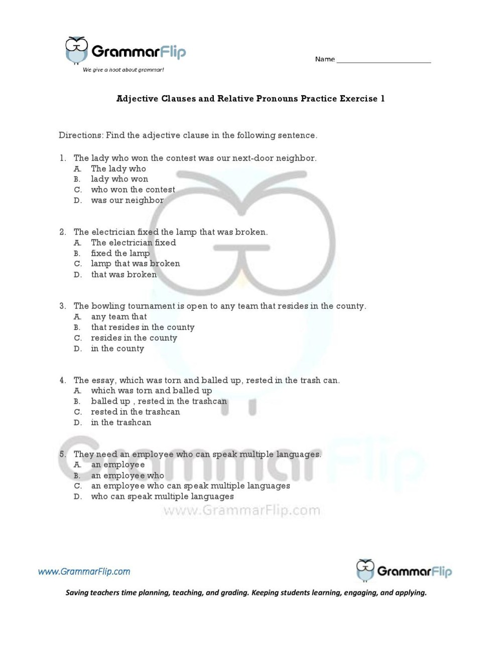 medium resolution of Relative Pronouns Who Worksheet   Printable Worksheets and Activities for  Teachers