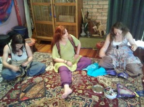 Jade Belly Dance Students bra making workshop
