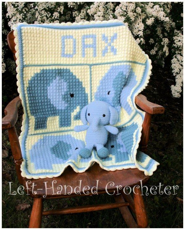 Elephant Blanket Crochet Graph Pattern - Year of Clean Water