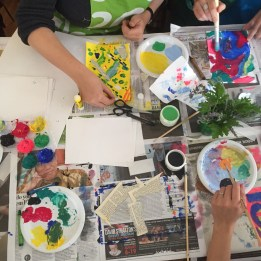 Having bright colourful art supplies helps stimulate the imagination and makes getting started even easier