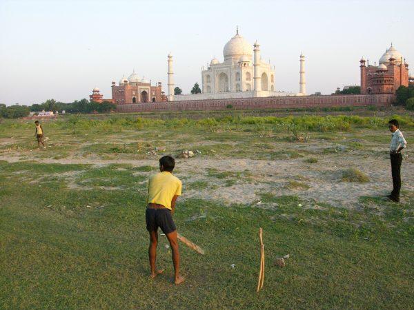 Playing cricket by the Taj Mahal, Agra, India, Image by Jade Jackson