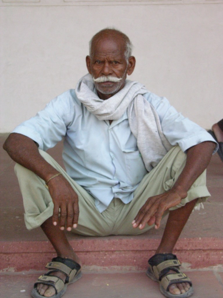Man with moustache,Agra, India, image by Jade Jackson