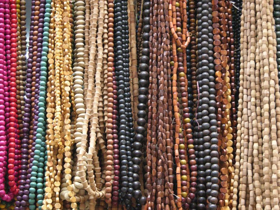 Wooden beads, markets, Delhi, India. Image by Jade Jackson.