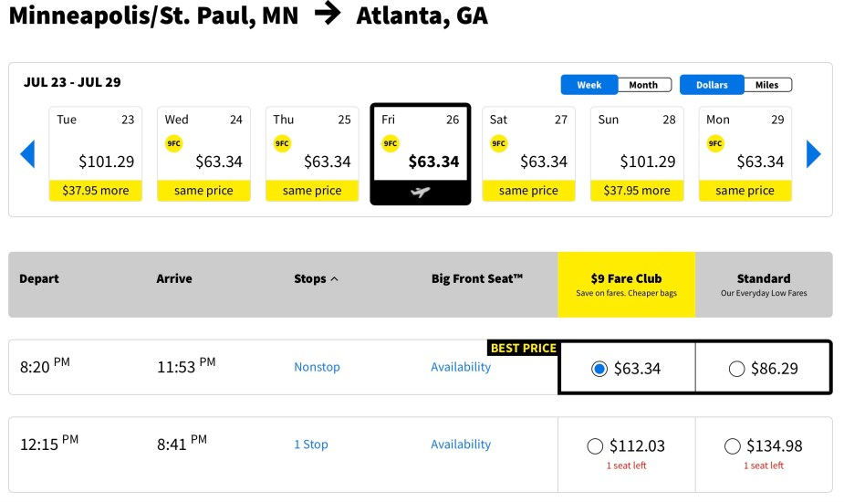 Cheap American fares, Spirit Airlines NK, MSP to ATL, article by Jade Jackson
