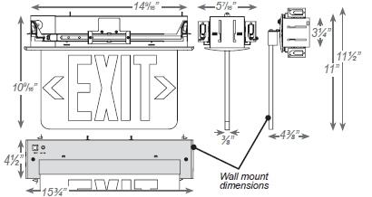 JES-ELR Recessed Exit Sign