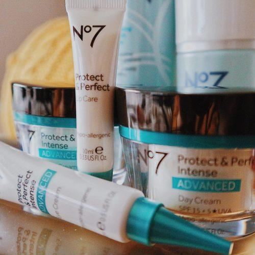 No7 Protect and Perfect Skincare Range • Day Cream • Night Cream • Under Eye Cream • Lip Care Cream • Makeup Remover