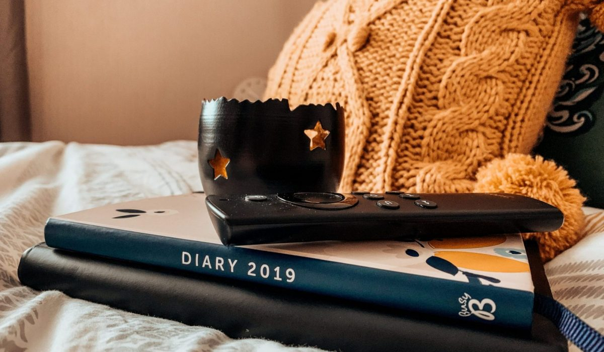 Star Candle Holder • 2019 Busy B Busy Life Planner • Fire TV Stick • Black TX Maxx Notebook