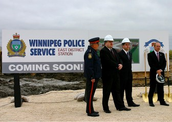 Winnipeg Police Event Sign