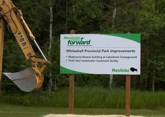 Manitoba Moves Forward Sign