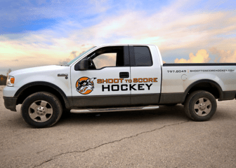 Shoot to Score Hockey Vehicle Graphics