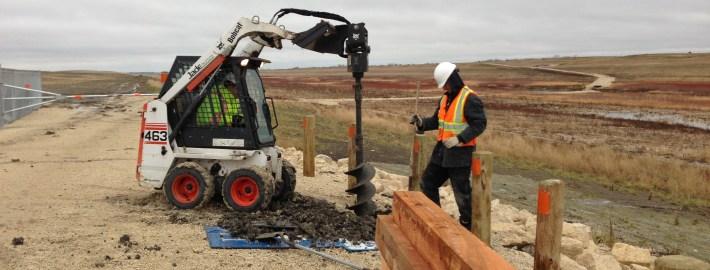 drilling post holes
