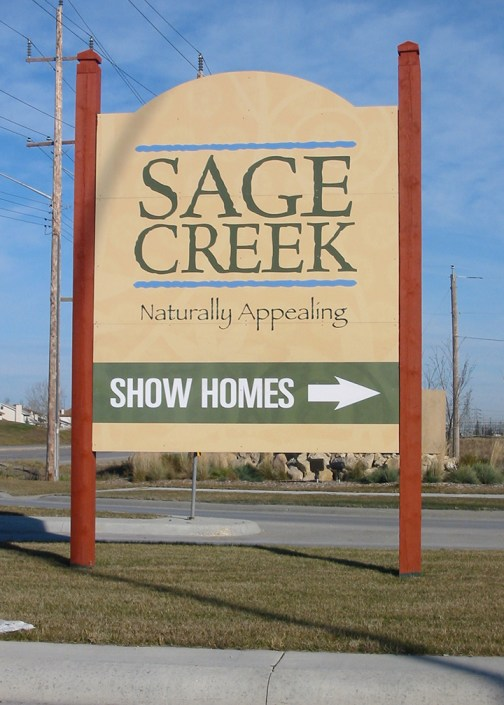 sage creek winnipeg sign