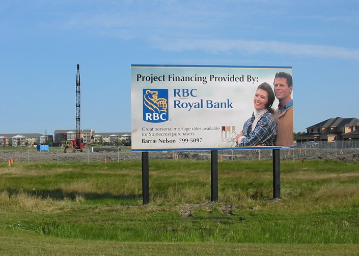 RBC project site sign
