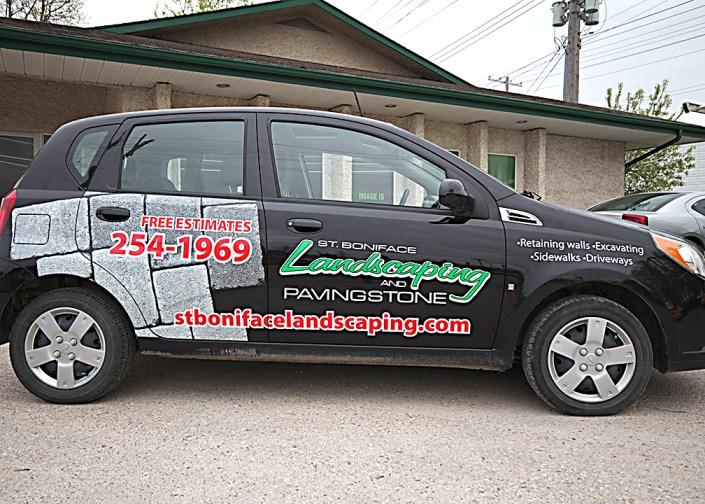 landscaping vehicle wrap
