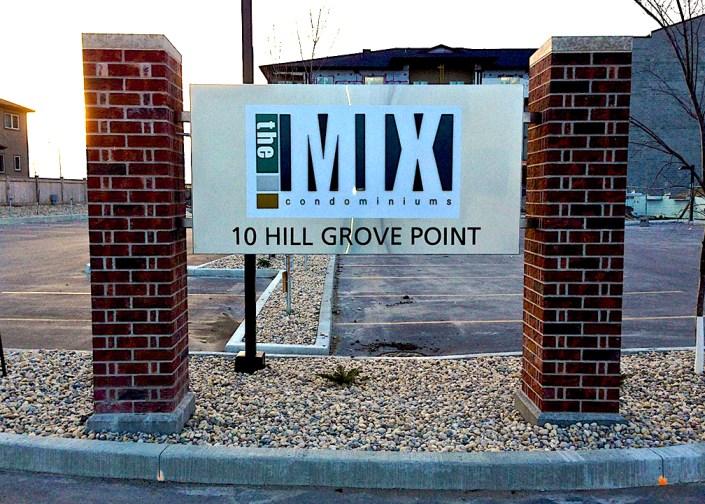 the mix condo sign