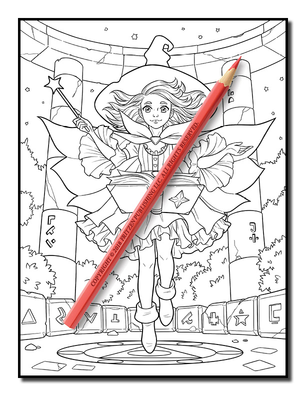 cute witches coloring book  cute witch coloring pages for