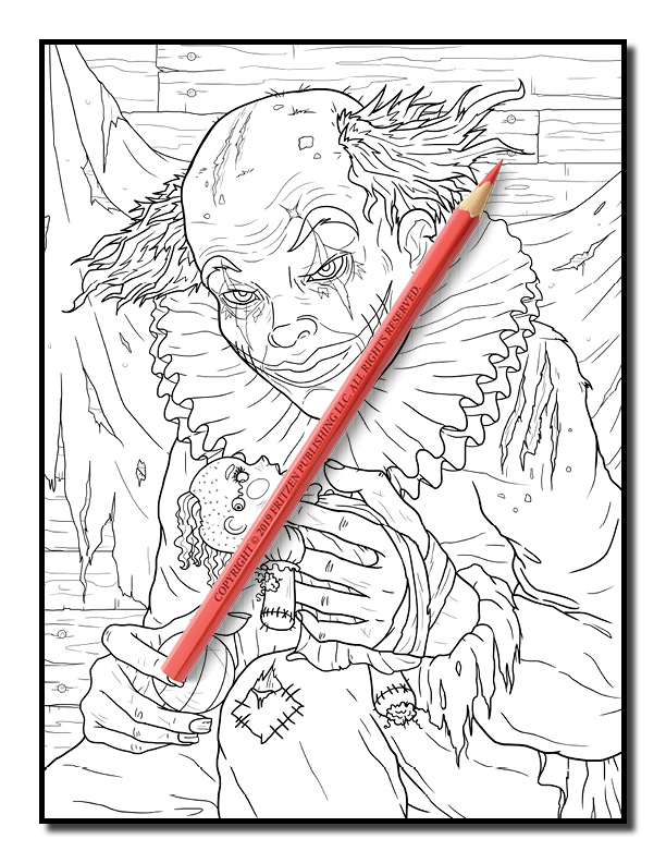 Nightmare Adult Coloring Book by Jade Summer