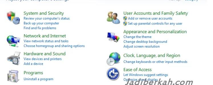Cara uninstall program aplikasi pada komputer