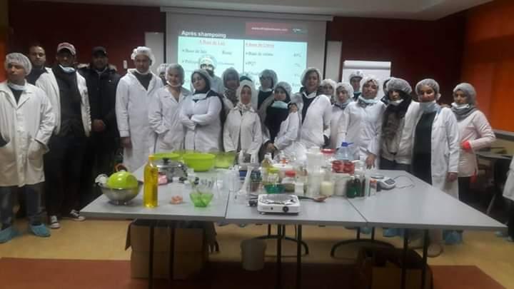 20 طالبًا وطالبةً يَسْتفيدُون من تكوين في صناعة مواد التجميل بخريبكة