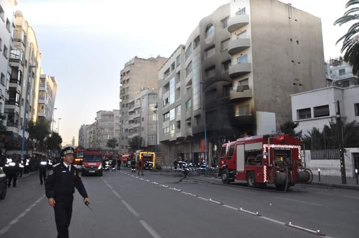 فيديو : النيران تلتهم متجر أسيما بالبيضاء