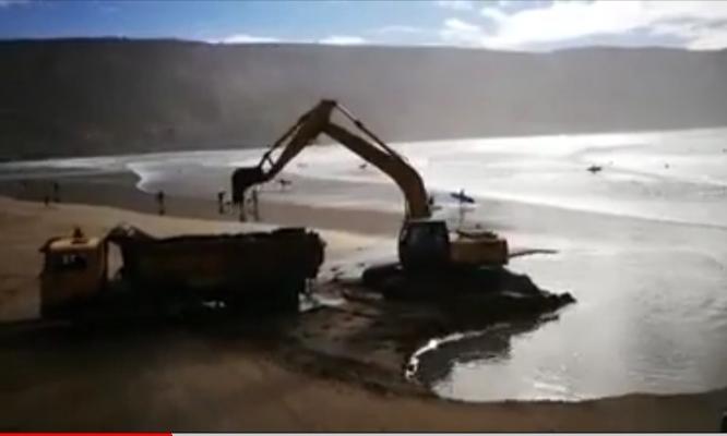 فيديو يفضح نهب رمال إمسوان ضواحي أكادير