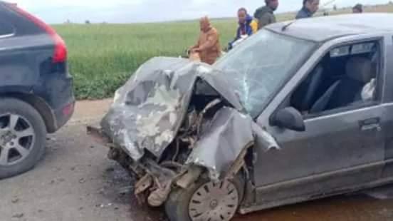 إصابة أربعة أشخاص في حادثة سير ضواحي مدينة ابن أحمد