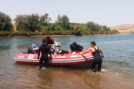 انتشال جثة غريق بسد تامسنا ضواحي سطات