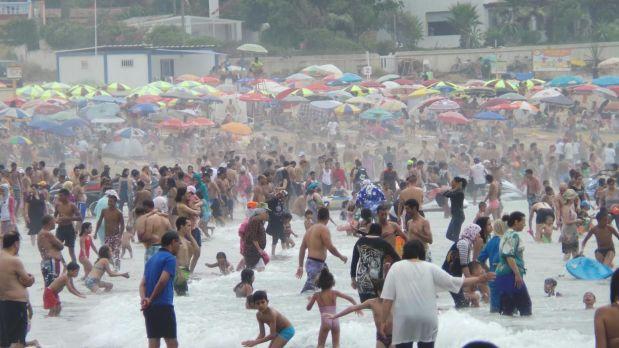 ترمضينة خايبة..شاب يعربدون في شاطئ المحمدية